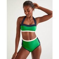 Santorini High Bikini Bottoms Green Women Boden, Green