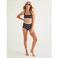 Santorini High Bikini Bottoms Navy Women Boden, Navy