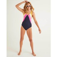 Symi Swimsuit Navy Women Boden, Multicouloured