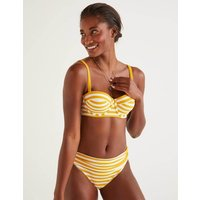 Samos Cup-size Bikini Top Yellow/Ivory Stripe Women Boden, Ivory