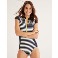 Leros Zip Up Swimsuit Navy Women Boden, Navy