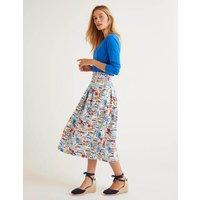Boden Theodora Pleated Skirt Ivory Women Boden, Ivory