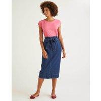 Cara Denim Paperbag Skirt Mid Vintage Women Boden, Mid Vintage