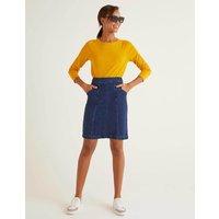 Daisy Chino Skirt Denim Women Boden, Denim