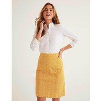 Daisy Chino Skirt Yellow Women Boden, Yellow