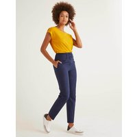 Holkham Belted Trousers Navy Women Boden, Navy