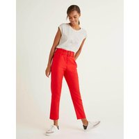 Holkham Belted Trousers Postbox Red Women Boden, Postbox Red