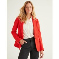 Hall Jersey Blazer Red Women Boden, Navy