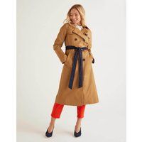 Franklin Trench Coat Brown Women Boden, Brown