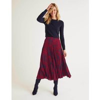 Camille Pleated Skirt Red Women Boden, Red