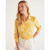 Linen Shirt Yellow Women Boden, Yellow