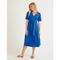 Lily Belted Dress Blue Women Boden, Blue