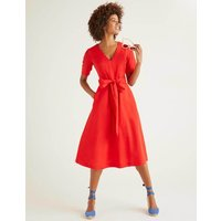 Lily Belted Dress Red Women Boden, Navy