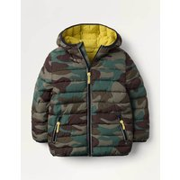 Cosy Pack-away Jacket Green Boys Boden, Green