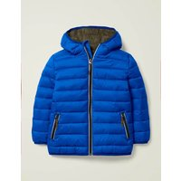 Cosy Pack-away Jacket Blue Boys Boden, Blue