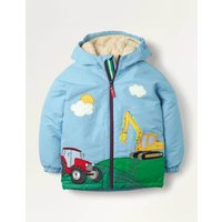 Cosy Sherpa-lined Anorak Frosted Blue Vehicles Boden, Frosted Blue Vehicles