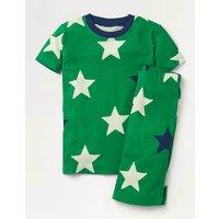 Glow-in-the-Dark Short Pyjamas Green Boys Boden, Green