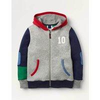 Sporty Zip-up Hoodie Grey Boys Boden, Grey