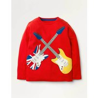 Hobbies Applique T-shirt Red Boys Boden, Red