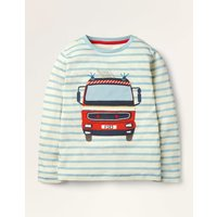 Lift-the-flap Vehicle T-shirt Blue Boys Boden, Blue