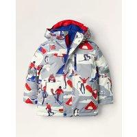 All-weather Waterproof Jacket Grey Boys Boden, Grey