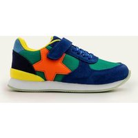 Suede Trainers Multi Boys Boden, Green