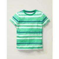 Supersoft Short Sleeve T-shirt Green Boys Boden, Blue