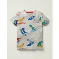 Printed T-shirt Multi Boys Boden, Grey