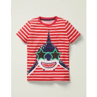 Novelty Appliqué T-shirt Red Boys Boden, Red