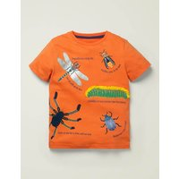 Insects Textured T-shirt Orange Boys Boden, Orange