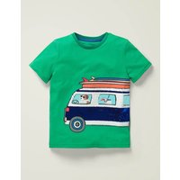 Colour-change Sequin T-shirt Green Boys Boden, Green