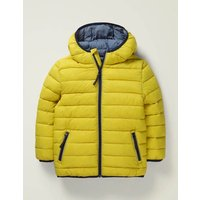 Cosy Pack-away Jacket Yellow Boys Boden, yellow