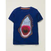 Animal Fact Appliqué T-shirt Blue Boys Boden, Navy