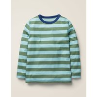 Supersoft Long Sleeved T-shirt Green Boys Boden, Blue