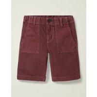 Gardener Shorts Brown Boys Boden, Red