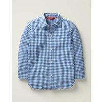 Casual Laundered Shirt Blue Women Boden, Blue