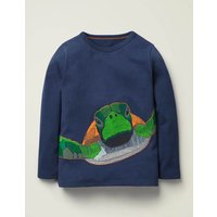 Superstitch Sealife T-shirt Blue Boys Boden, Navy
