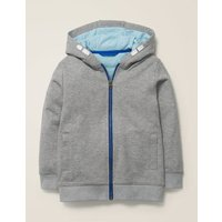 Cosy Out-of-this-World Hoodie Grey Boys Boden, Grey