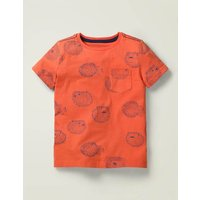 Under-the-sea Printed T-shirt Red Boys Boden, Red