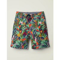 Washed Canvas Pull-on Shorts Multi Boys Boden, Blue