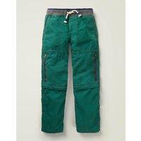 Zip-off Techno Trousers Green Boys Boden, Green