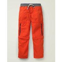 Zip-off Techno Trousers Orange Boys Boden, Orange