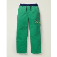 Applique Pull-on Trousers Green Boys Boden, Green