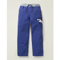 Applique Pull-on Trousers Blue Boys Boden, Blue