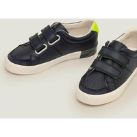 Leather Low Tops Navy Boys Boden, Navy