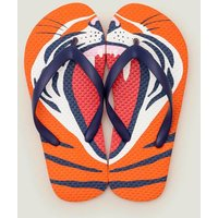 Printed Flip Flops Orange Boys Boden, Orange