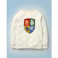 Hogwarts Crest Sweatshirt Ivory Girls Boden, Ivory
