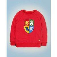 Hogwarts Crest Sweatshirt Red Boys Boden, Red