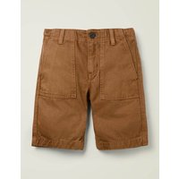 Gardener Shorts Brown Boys Boden, Brown