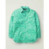 Casual Laundered Shirt Green Boys Boden, Green